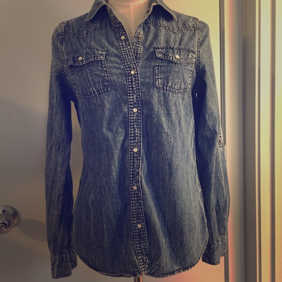 Arizona Jean Company Tops - Long sleeve denim shirt